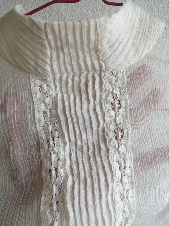 Victorian Ghost Blouse ~ size medium to large ~ s… - image 3