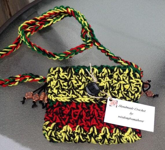 Rasta bandoulière Hobo Bag, sac à bandoulière, sac bandoulière, sac à main besace, Hipster sac à main au Crochet fait main