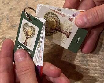Trees Speak - Mini-Affirmation Cards on Keyring
