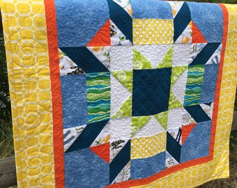 Quilted Wall Hanging Scrappy Summer Star