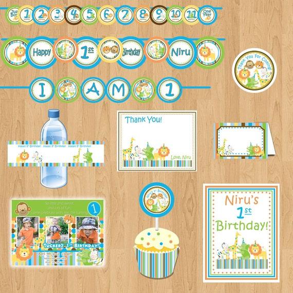 Sweet Safari Package Boy Birthday Package 1st Birthday Party