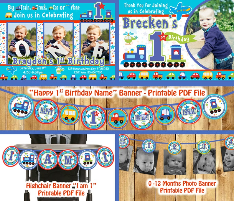 Transportation Party Decor Boy First Birthday Theme