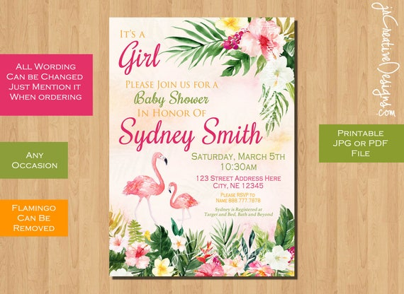 baby shower invitation girl floral baby shower invitation printable