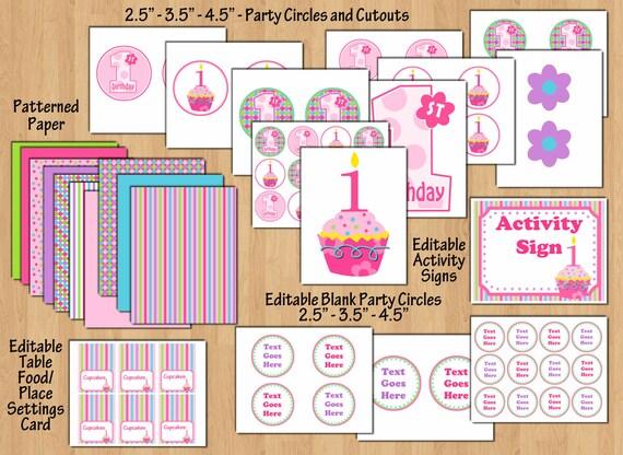cupcake birthday party cupcake birthday banner cupcake etsy