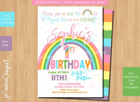 rainbow invitation pastel rainbow birthday party invitations pastel