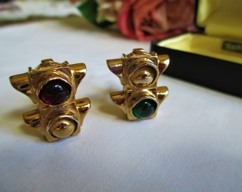 Hipster Vintage Cuff links By Vintagelady7 ART DECO SWANK Collar Holder Jeweled Clip Bar Men/'s Jewelry Formal Wear For Dad