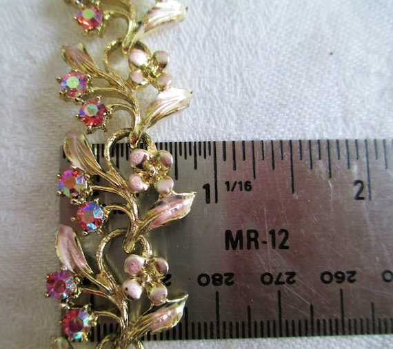 Vintage Coro Floral Silver Brooch and Earring Set Rose Shape with Aurora Borealis Rhinestones Vintage Jewelry