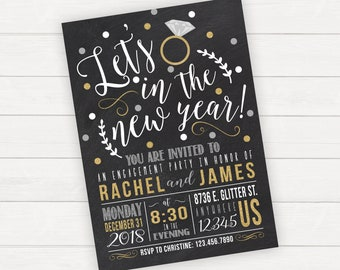 engagement party invitation new years party invitations new years eve engagement new years engagement party invitation new years eve