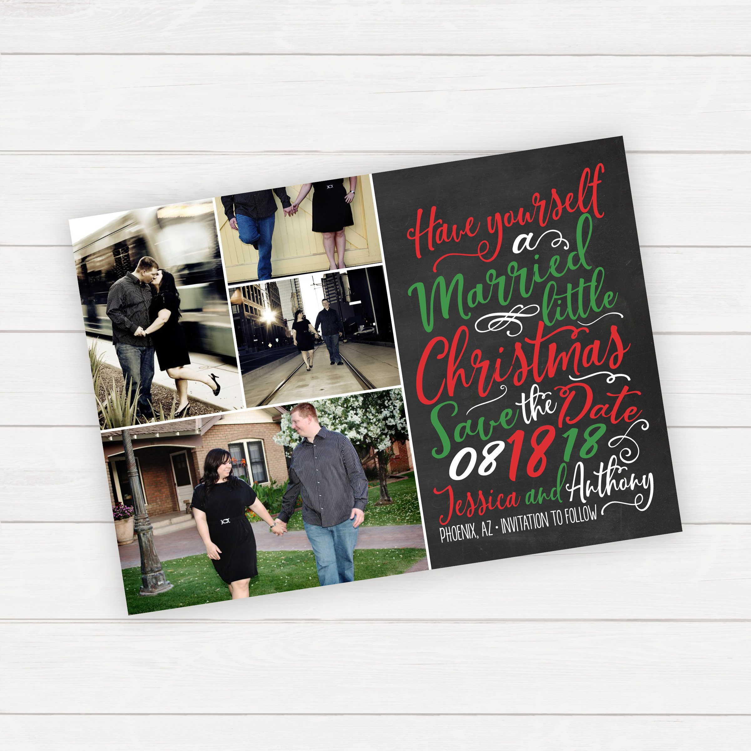 Christmas Save the date card Printable Holiday Save the Date | Etsy