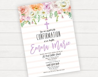 Religious invitation Etsy