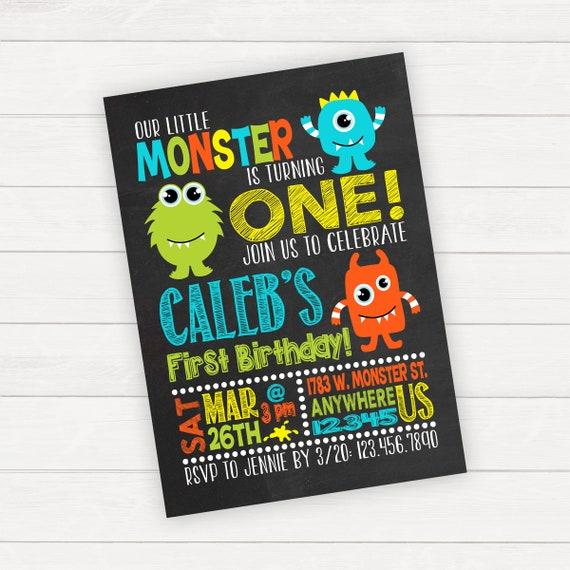 Monster birthday invitation monster invitation monster etsy image 0 filmwisefo