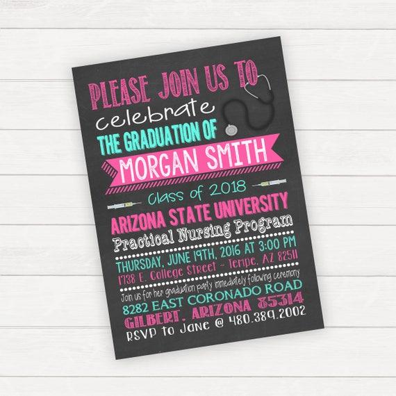 nursing school graduation invitation graduation party college etsy