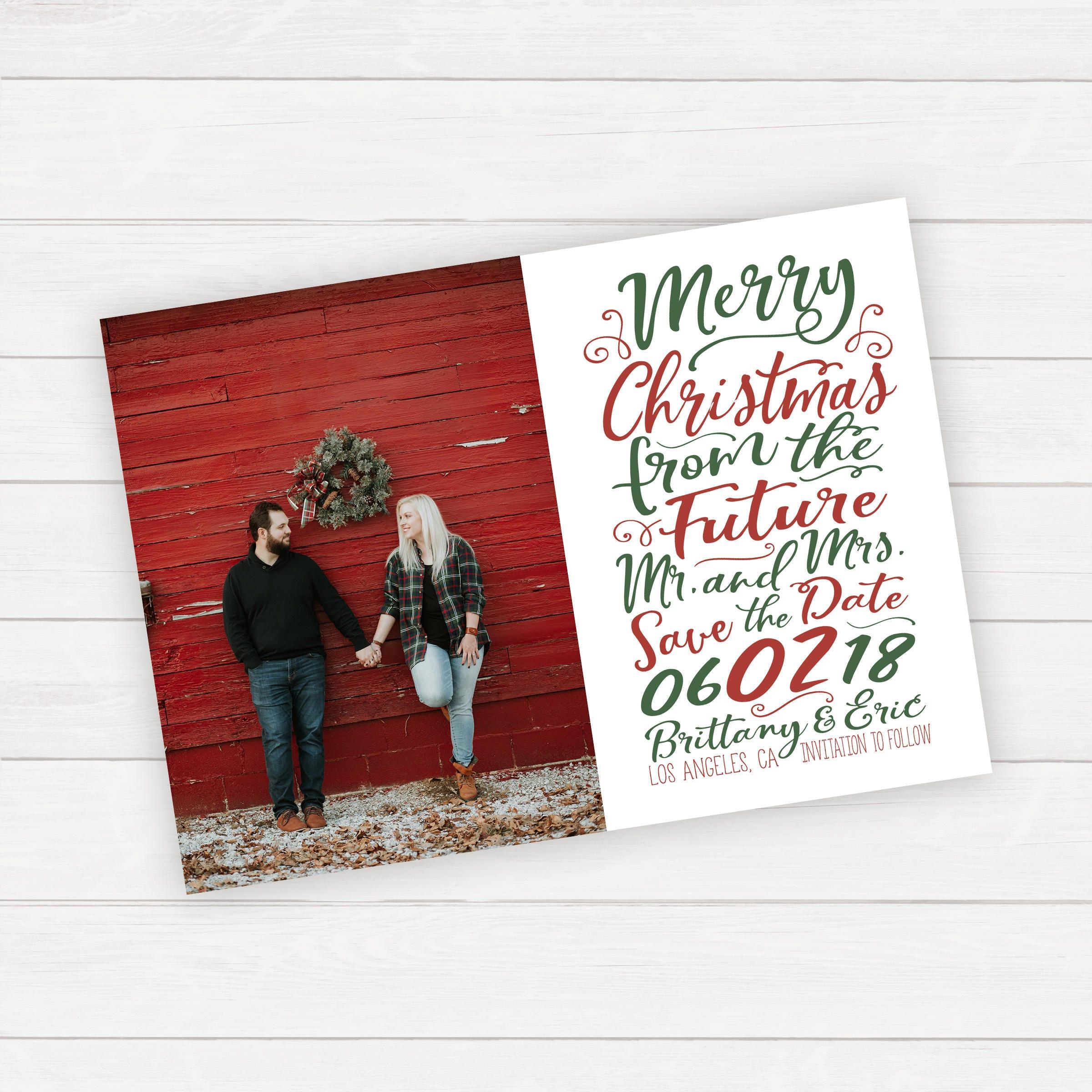 Weihnachten zu retten das Datum Foto speichern Sie die | Etsy
