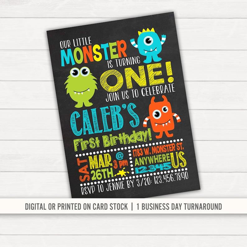 Monster Birthday Invitation First
