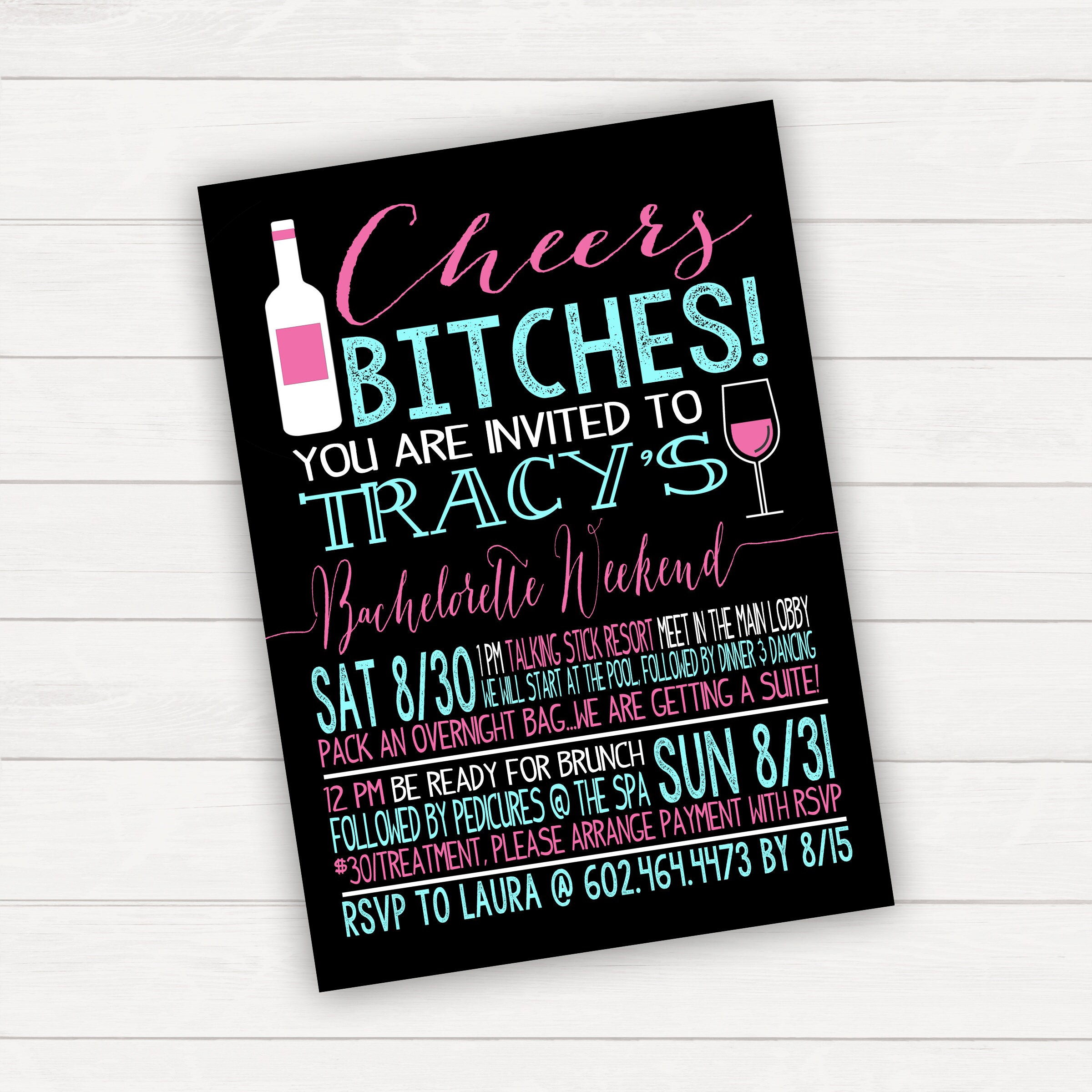 Bachelorette Party Bachelorette Invitations Bachelorette
