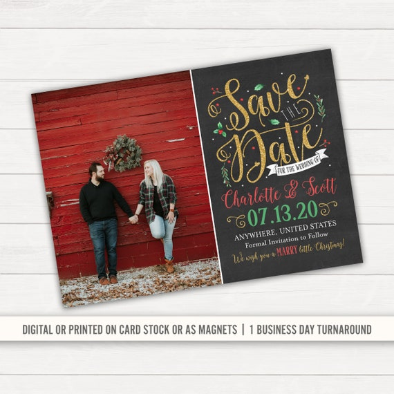 Save The Date Christmas Cards.Save The Date Christmas Save The Date Christmas Wedding Printed Save The Date Holiday Save The Date Festive Save The Date Magnets Rustic