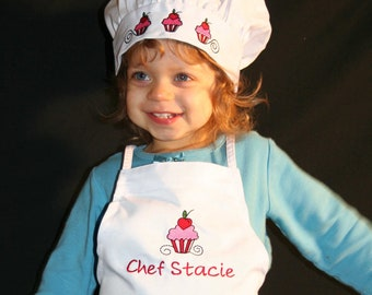 Personalized Cupcake Chef Apron And Hat Set Etsy