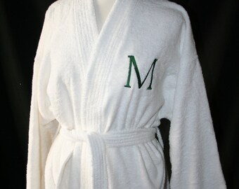 RUSH SHIP PERSONALIZED Black or White Luxury Velour Terry Hotel Robe  His  and Hers Wedding Robes  Men s and Woman s Robes  Monogrammed Robes eefd8f13a