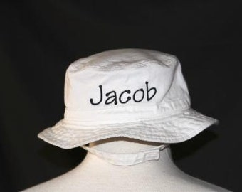 7bfbfea467e Personalized Infant   Toddler Bucket Hat with Chinstrap