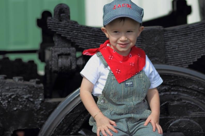 Train party Train Conductor PERSONALIZED Train Hat Set; Train Costume Toddler Train Hat Train Engineer hat Train Birthday Train Set