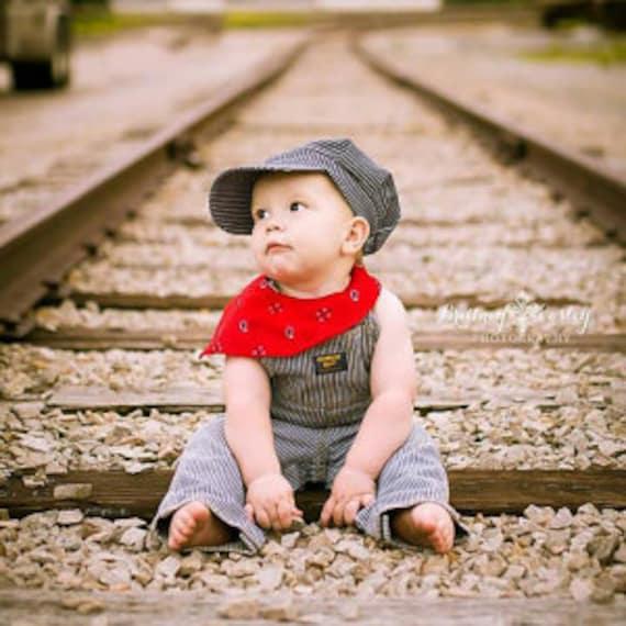 b912b369dd1 PERSONALIZED Train Hat and Bandanna Train party Train