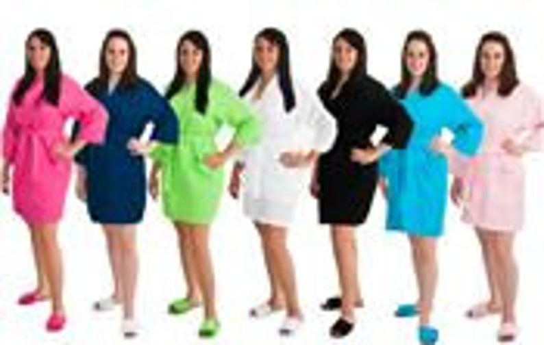 Personalized Robe Wedding Robes Now Available in 10 COLORS and Ready for IMMEDIATE Shipment; Wedding and Rush Orders Welcome