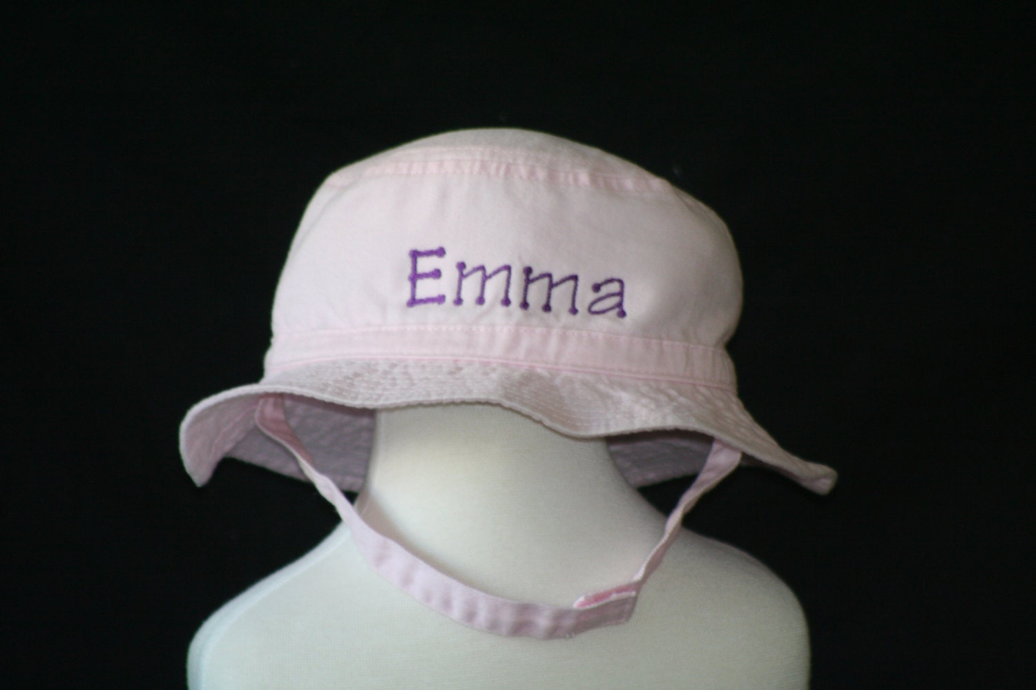 51ab0a4fb87 Bucket Hat Infant and Toddler Personalized with Chinstrap