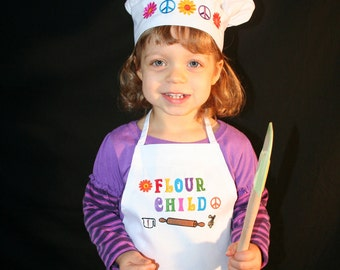 Personalized Custom Chef Apron and Hat Set, Children's apron sets, Chef Hat, Chef Apron, Custom logos, Children's kitchen, kids's kitchen
