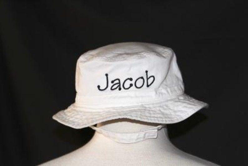 5dba7b8cc1ad2 Personalized Infant   Toddler Bucket Hat with Chinstrap