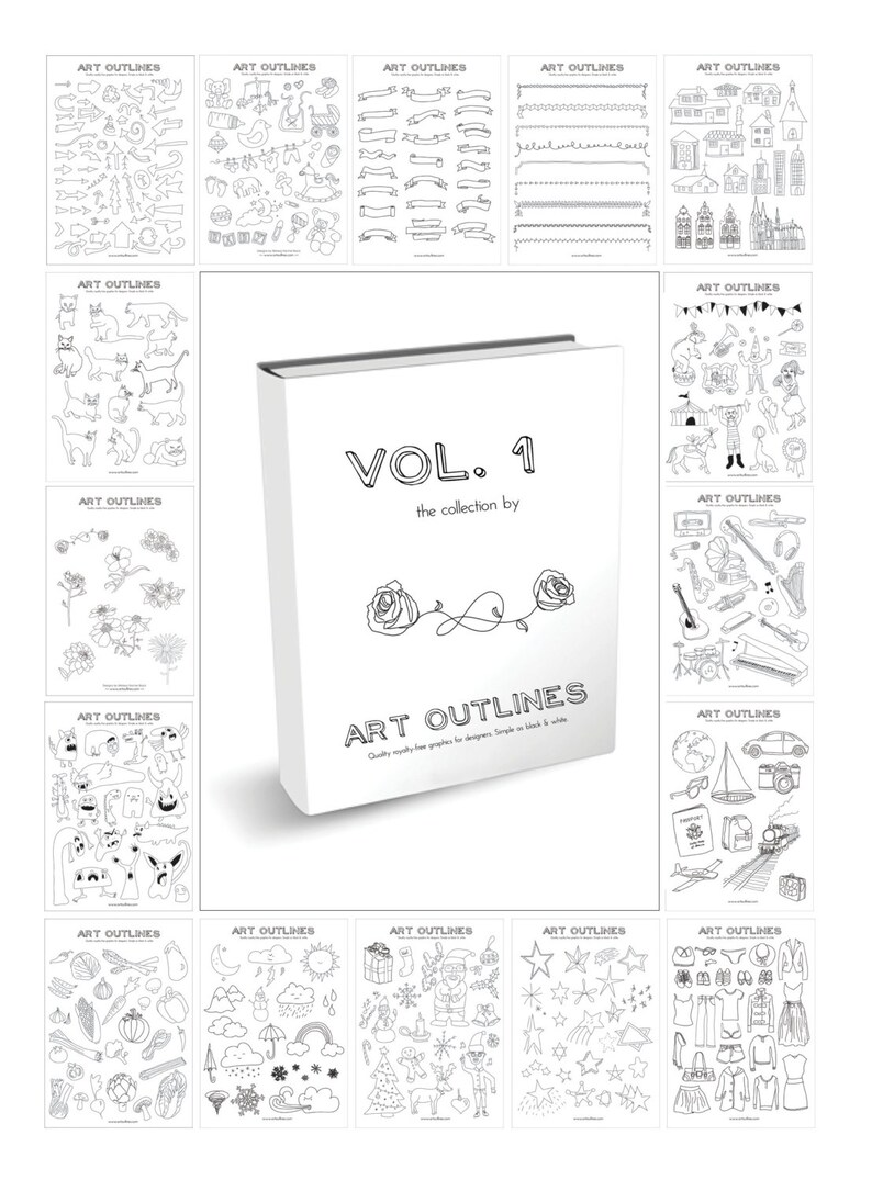 Art Outlines Volume 1: Complete Collection of 500 Original image 0