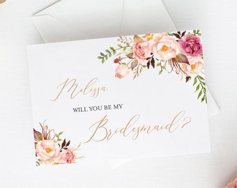 Will you be my bridesmaid printable   Etsy