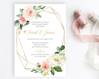 Geometric Invitation Etsy