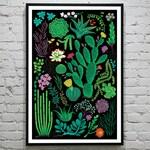 "Succulents Botanical print- 11X17"""