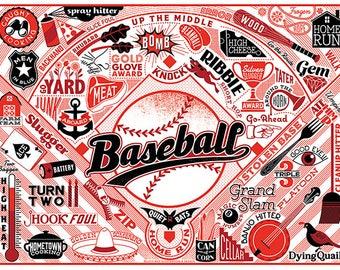 "BASEBALL- 11X14"""