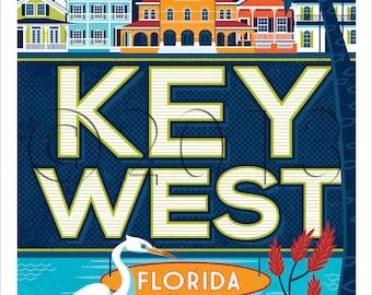 Travel Poster:  Destination Key West