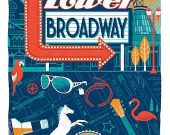 Nashville Neighborhood Series - 4, Lower Broadway