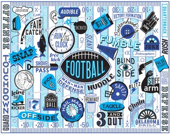 "FOOTBALL- 11X14"""