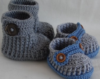 baby booties, crochet baby shoes, gift set for baby, newborn boy, knitted baby booties, boots for newborn baby, CHOOSE COLOURS and SIZES