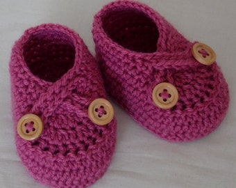 Crochet Baby Shoes, Baby Booties, Boots for Baby, Newborn Boots, Pink Baby Shoes, newborn,0-3 or 3-6 m