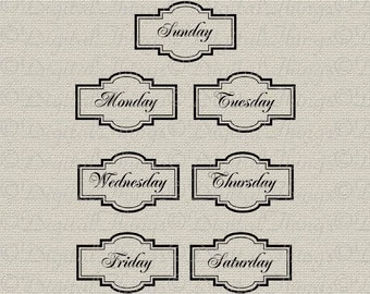 photo about Printable Days of the Week Labels named Solutions comparable in the direction of Thirty day period Labels Sbooking Labels Journaling