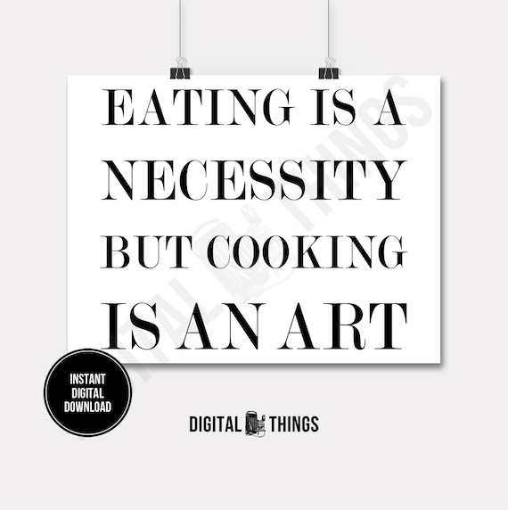Kitchen Decor Words: Food Art Quote Kitchen Decor Art Word Art Cooking Quote