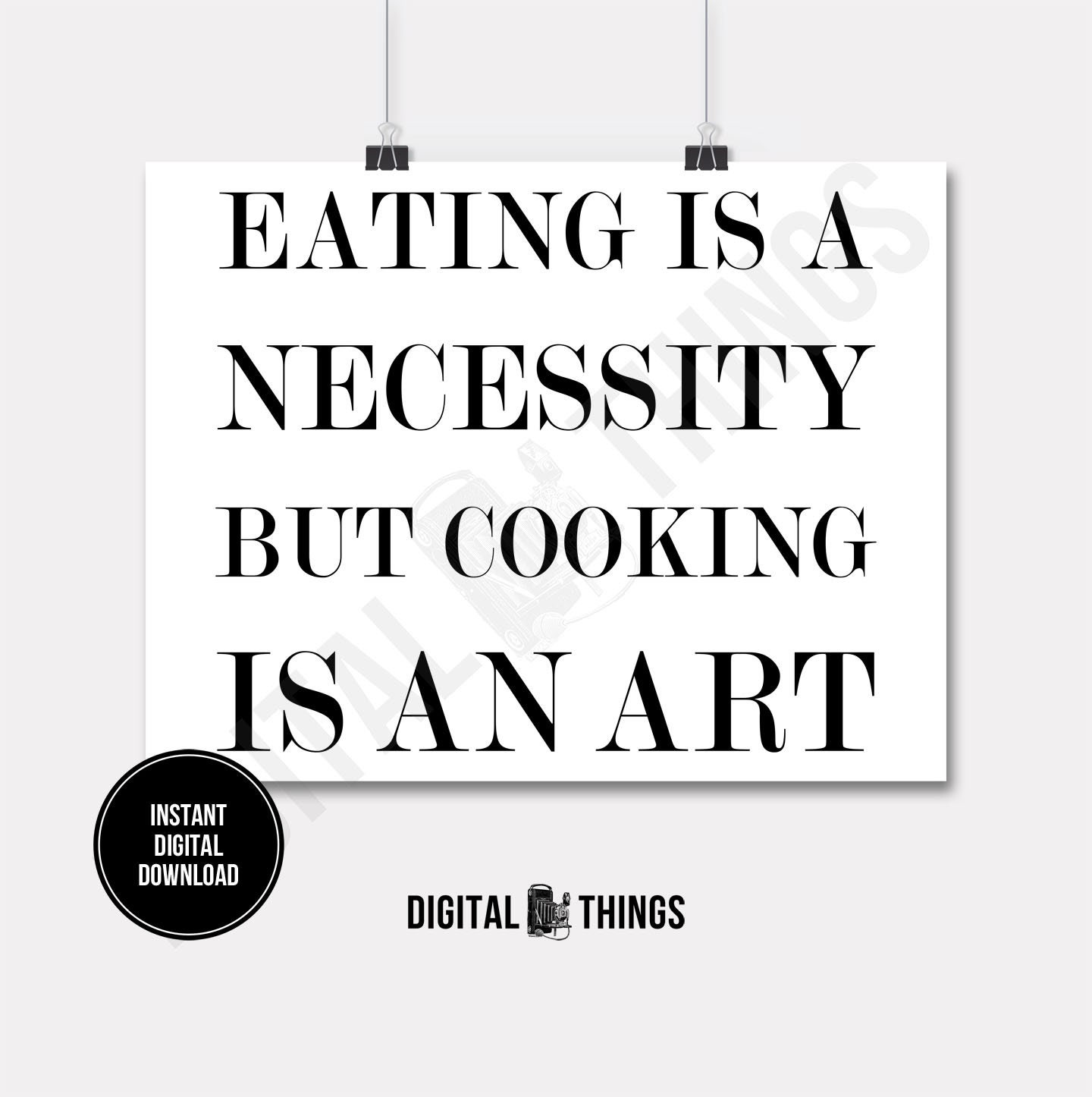 Kitchen Decor Quotes: Food Art Quote Kitchen Decor Art Word Art Cooking Quote