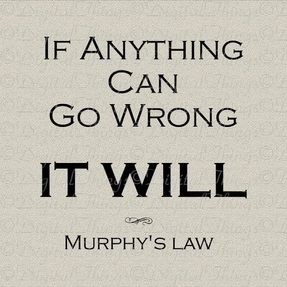Inspirational Quote Murphy's Law Sign Wall Decor Art | Etsy