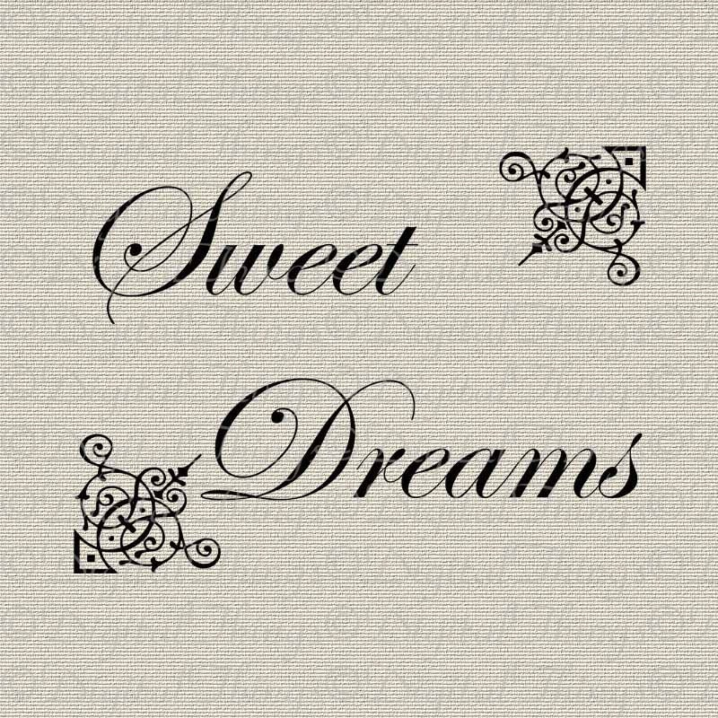 Sweet Dreams Word Art Typography Wall Decor Printable