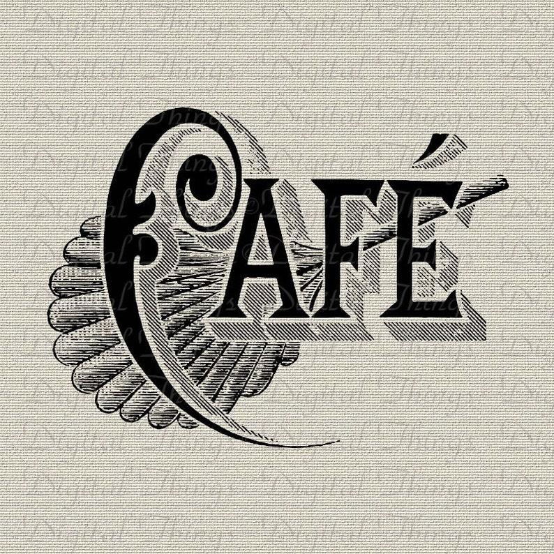 French Cafe French Decor Word Art Kitchen Art Typography Etsy