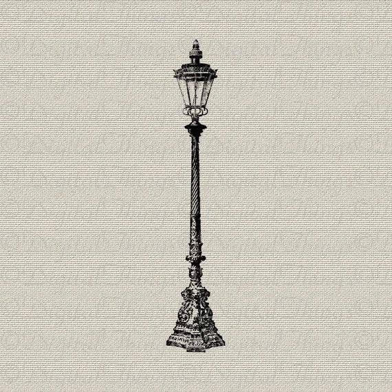 Vintage Lamp Post Outdoor Light Wall Decor Art Printable Etsy