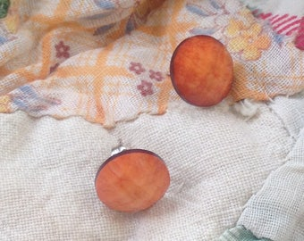 orange sherbet earrings