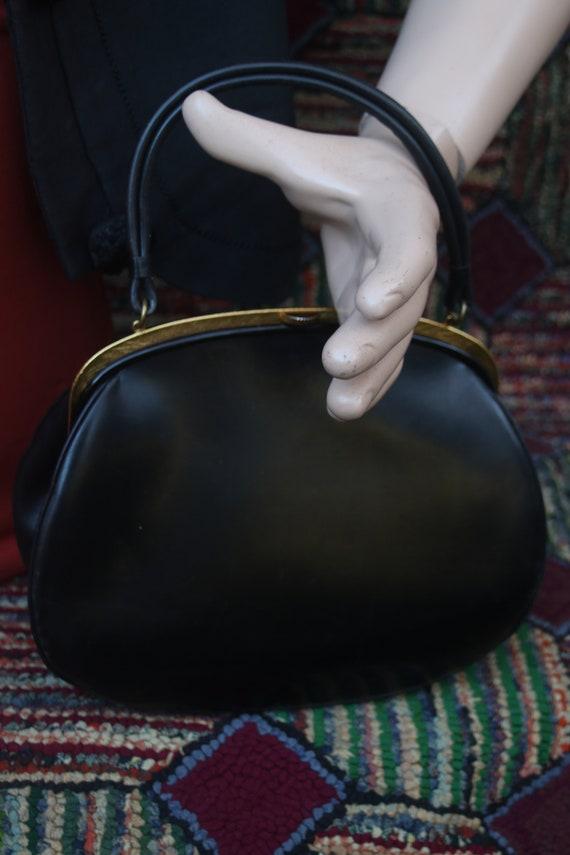 Vintage Black Calfskin Handbag by Dorian