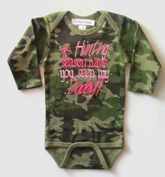 Pink Realtree Camo Romper /'Have You Seen My Daddy/' Baby Toddler Hunting
