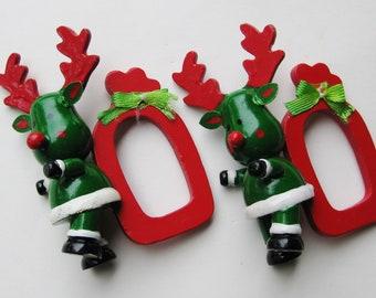 NEU rot Weihnachten Weihnachtsmann Serviettenring Servietten Ring aus Keramik